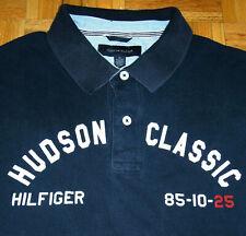 Tommy Hilfiger Polo Shirt Hudson Classic Patch Spellout Street Wear Hip Hop XL