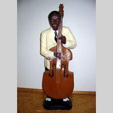 JAZZ MUSIKER BASSIST mit KONTRABASS 114 cm Deko Figur WERBUNG MUSIK USA AMERIKA