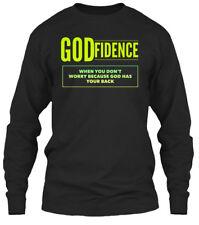Godfidence Green And Yellow Gildan Long Sleeve Tee T-Shirt
