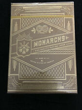 Theory 11 T11 Gold Monarchs Playing Cards 1 Deck NEW SEALED with Carat Case