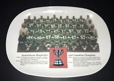 Saskatchewan Roughriders 1966 Grey Cup Champions Tray (9.5 X 13) Rare Piece