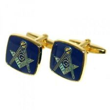 High Quality Blue & Gold Plated Masonic with G Cufflinks