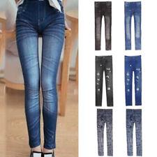 Women Skinny Pants Jeggings Stretchy Slim Leggings Jeans Pencil Tight Trousers