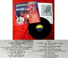 LP Louis Armstrong: Disney Songs The Satchmo Way (Vista STBV 9806) D 1968