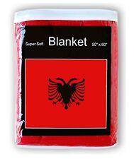 ALBANIAN FLAG FLEECE BLANKET *NEW* Flamuri i Shqipërisë Albania Flag Throw Cover
