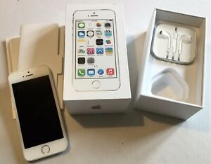 Apple iPhone 5S -  64GB - Silver (EE) - Very Good Condition - A1457 (GSM)