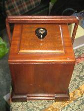 Vintage Wooden Tea Caddy with Liner.....