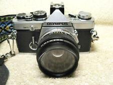 Vintage Olympus OM-2N MD 35mm SLR Film Camera w/ 50mm f/1.8 Lens & Instructions