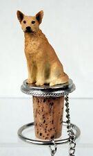 Australian Cattle Dog Cork Wine Bottle Stopper red heeler Hand Painted Figurine