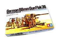 Tamiya Military Model 1/35 German 88mm Gun Flak36 Kit Scale Hobby 35283
