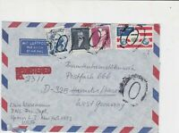 united states 1976 Upton N.Y cancel to w.germany air mail stamps cover ref 21283