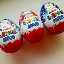 Kinder Surprise Christmas Chocolate Egg Maxi with Toy inside 100g