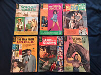 TV Silver Age lot of 6 Gold Key Comics - Land of the Giants, Man From Uncle G/VG