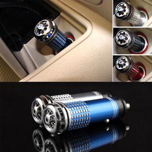 Auto Car Fresh Air Freshener Ionic Purifier Oxygen Bar Ozone Ionizer Cleaner US