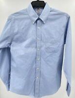 Brooks Brothers Men's Regent Dress Shirt Size 15 1/2 35 Blue LS Pre-Owned