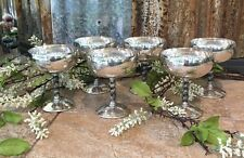 Silver Plated Champagne Goblet Made EPB Spain, set of 6