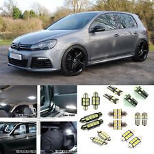 16pcs white Decoder Interior LED light full package for VW Golf MK 6 R 2012-2013