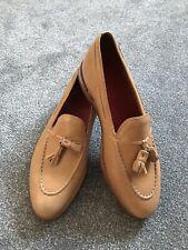 Grenson Cuero Mocasines zapatos Reino Unido 8e Nuevo Cuero Amarillo mostaza
