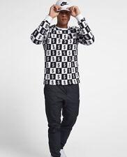 Nike Dollar Money Print Long Sleeve T-Shirt Mens AO8048-100 Black White SZ L New