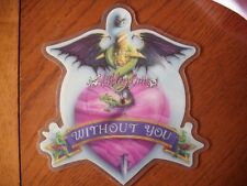 """motley crue without you shaped 7"""" vinyl limited edition picture disc"""
