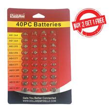 40  Assorted Super Alkaline Button Batteries Coin Cell Set Watch Calculator