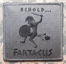 BEHOLD FARTACUS SPARTAN USA ARMY ACU DARK VELCRO® BRAND FASTENER PATCH