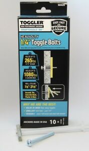 """Toggler SnapToggle BB 10 1/4"""" Heavy Duty Strap Toggle Anchor with Screws 50425"""