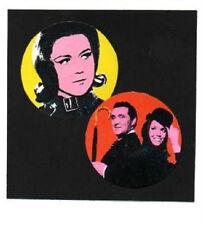 2 AVENGERS BADGES. Diana Rigg, Cult TV, 60's TV.