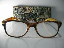 New! Foster Grant Charlie Gold 1.50 Reading Glasses W/Soft Case. FREE Ship!