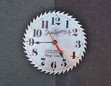 "Sears Roebuck Craftsman Shop Clock Greatest Name in Tools Saw Blade 10"" Battery"