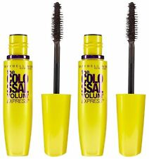 2 Maybelline Volum'Express the Colossal Mascara GLAM BLACK 230 Sealed/Unboxed