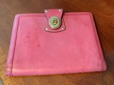 Vintage Coach 6.5 x 8.5 Pink leather Agenda / Planner / notebook Cover