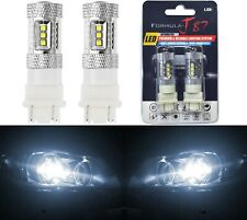 LED Light 80W 4157 White 5000K Two Bulbs Front Turn Signal Replace Upgrade Lamp