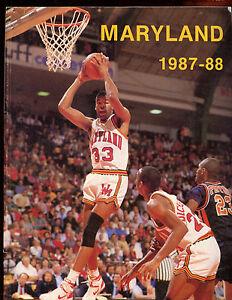 1987/1988 NCAA Basketball Maryland Yearbook EXMT