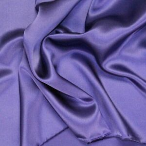 """Purple 100% Silk Charmeuse Apparel Home Decor Fabric - Sold By The Yard - 45"""""""