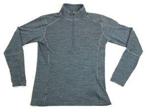 Mens Kuhl Hiking 1/2 Zip Black Lightweight Pullover Fleece Size Small Excellent