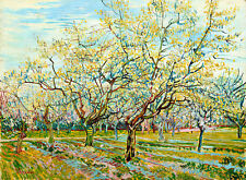 The White Orchard by Vincent van Gogh A1+ High Quality Canvas Art Print