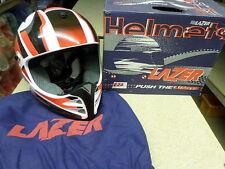 Casco de motocicleta MX5 X-PRO99 Lazer Motox pequeño (S) Rojo Blanco Negro X Pro 99 R22