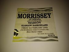 RARE 1995 MORRISSEY Concert Ticket / Glasgow Barrowland / IN PERSON