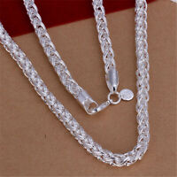 925 Promotions Silver Fashion Women men 6MM solid chain Necklace jewelry N083