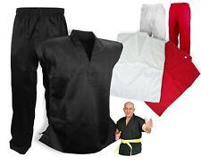 Sleeveless Martial Arts Uniform Gi Set Karate Taekwondo, Black/White/Red