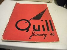 1946 East High School The Quill Des Moines Iowa Yearbook