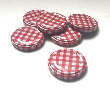 Nutley's 58mm rouge vichy jam jar couvercles twist-off coupe hexagonale verre jam pots