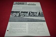 Ford Tractor 750 753 755 Backhoe Dealer's Brochure AMIL15