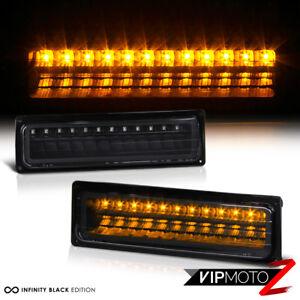 For 88-99 GMC CHEVY C/K TAHOE SIERRA Black LED Bumper Light Signal Parking Lamp