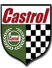 CASTROL VINTAGE MOTORSPORT METAL SHEILD,CASTROL OIL GARAGE SIGN.