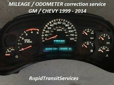 1999-2014 GM / Chevrolet Speedometer Cluster Odometer/Mileage Correction Service