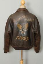 Vtg AVIREX A-2 USAAF 'American Made' Leather Flight Jacket Size Large