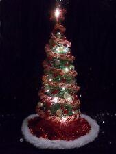 "NEW! LIGHTED 9-1/2"" DOLLHOUSE MINIATURE CHRISTMAS TREE 1:12 MID-CENTURY MODERN"