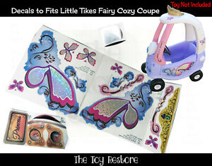 Decals Replacement Stickers fits Little Tikes Tykes Fairy Cozy Coupe 30th Full